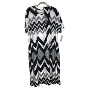 Chevron Marly Dress LuLaRoe 3X BNWT Black & White
